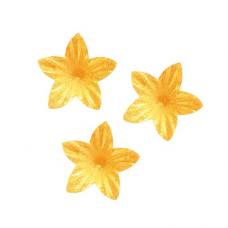 Oplátkový kvet mini oranžový 2 cm