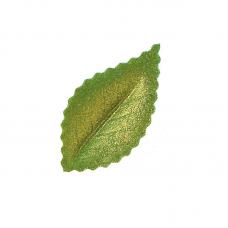 Oplátkový list zelený perleťový 4,2 cm
