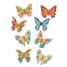 Cukrová dekorácia Motýľ 8 ks