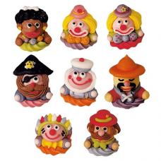 Cukrové dekorácie Karneval 6 ks