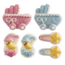 Cukrové dekorácie Narodenie dieťaťa