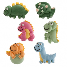 Cukrové ozdoby Dinosaury 6 ks
