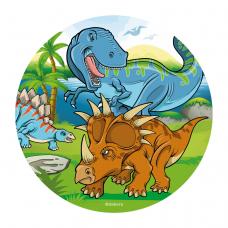 Jedlá oplátka Dinosaury 20 cm
