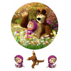 Jedlý obrázok Máša a medveď