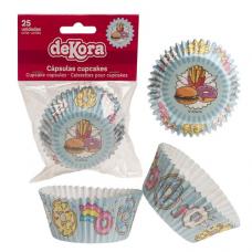 Papierové košíčky na muffiny Cup Cake 25 ks