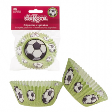 Košíčky na muffiny Futbal 25 ks papierové