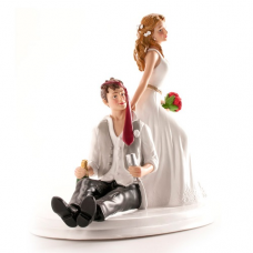 Svadobná ozdoba na tortu Ženích a nevesta divoká párty