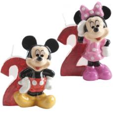 Tortová sviečka Mickey a Minnie Mouse číslo 2