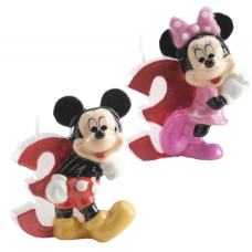Tortová sviečka Mickey a Minnie Mouse číslo 3