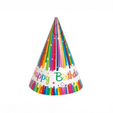 Párty klobúky Happy Birthday