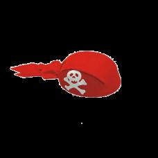 Klobúk - pirátska šatka červený