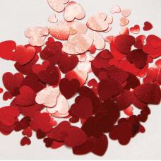Konfety sypané Srdiečka červené