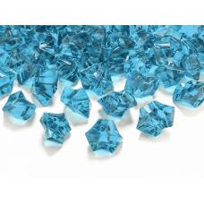 Dekoračné kamienky kryštáliky modré 25x21mm