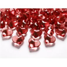 Dekoračné kamienky srdiečka červené 21 cm