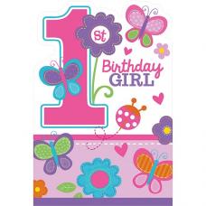 Pozvánky 1. narodeniny dievča