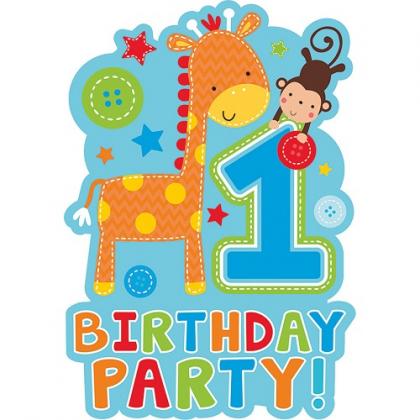 Pozvánky 1. narodeniny chlapec
