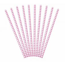 Papierové slamky ružové Pika /10ks/