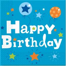 Servítky Happy Birthday chlapec
