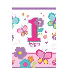 Obrus 1. narodeniny dievča
