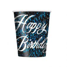 Poháre Happy Birthday modré