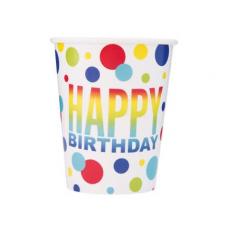 Poháre Happy Birthday bodky