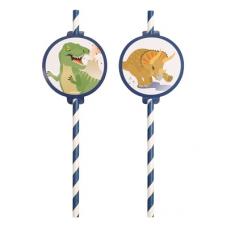 Papierové slamky Dinosaury