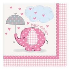 Servítky Baby Shower Dievča