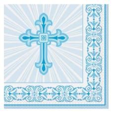 Servítky Krížik modrý