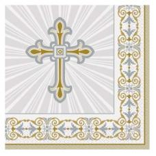 Servítky Krížik zlatý