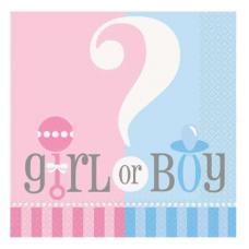 Servítky Dievča alebo Chlapec
