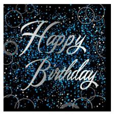 Servítky Happy Birthday modré