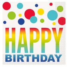 Servítky Happy Birthday bodky
