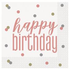 Servítky Happy Birthday