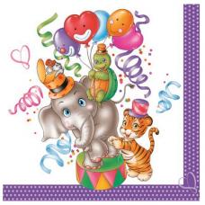 Servítky Zvieratká cirkus