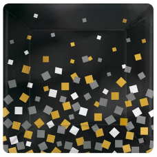 Taniere čierne s konfetami