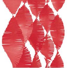Girlanda červená