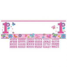 Banner 1. narodeniny dievča s vlastnám textom