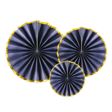 Rozetky tmavo modré so zlatým okrajom
