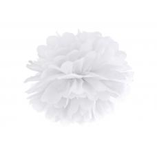 Pom pom biely brmbolec 25 cm