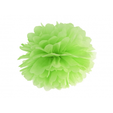 Pom pom zelená limetka brmbolec 25 cm