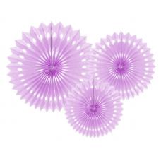 Rozetky fialové /3ks/