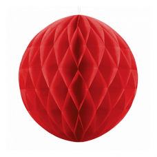 Papierová guľa červená