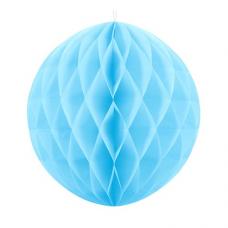 Papierová guľa bledo modrá