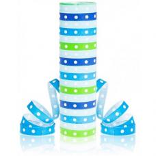 Papierová Serpentína s bodkami modrá 18 pásov po 4 metre
