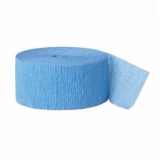 Krepová stuha modrá