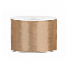 Saténová stuha zlatá 50 mm