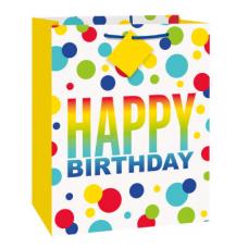 Darčeková taška Happy Birthday bodky