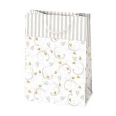 Darčeková taška biela s motívom
