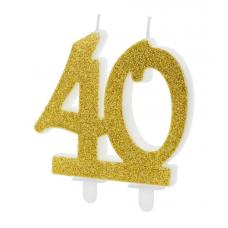 Sviečka č. 40 zlatá
