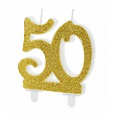 Sviečka 50. zlatá